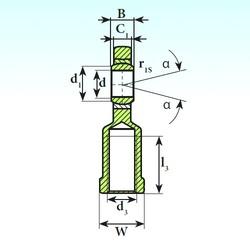 45 mm x 68 mm x 32 mm  ISB SI 45 C 2RS plain bearings