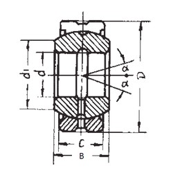 45 mm x 68 mm x 32 mm  FBJ GE45ES-2RS plain bearings