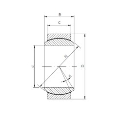 45 mm x 68 mm x 32 mm  Loyal GE 045 ECR-2RS plain bearings