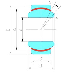 45 mm x 68 mm x 32 mm  LS GE45N plain bearings