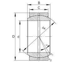 INA GE45-DO plain bearings