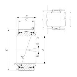 45 mm x 68 mm x 32 mm  IKO GE 45EC-2RS plain bearings
