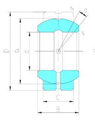 45 mm x 68 mm x 32 mm  LS GE45ES plain bearings