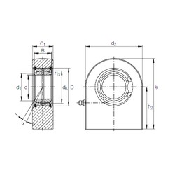 45 mm x 68 mm x 32 mm  INA GF 45 DO plain bearings