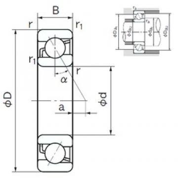 75 mm x 160 mm x 37 mm  NACHI 7315C angular contact ball bearings