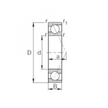 110 mm x 150 mm x 20 mm  CYSD 7922C angular contact ball bearings