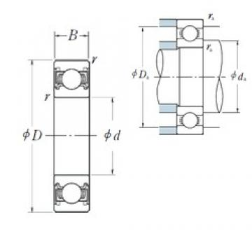 80 mm x 170 mm x 39 mm  NSK 6316VV deep groove ball bearings