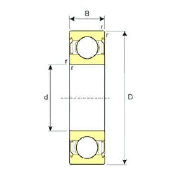 55 mm x 72 mm x 9 mm  ISB SS 61811-2RS deep groove ball bearings