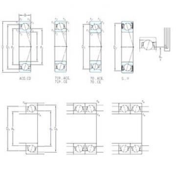 110 mm x 150 mm x 20 mm  SKF S71922 ACB/P4A angular contact ball bearings