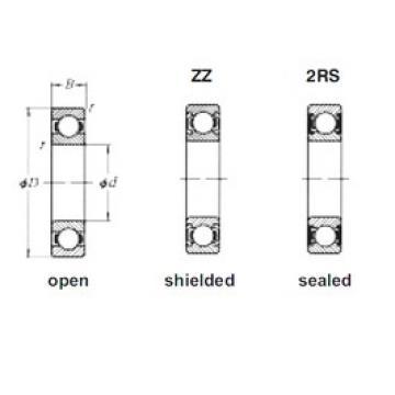 55 mm x 72 mm x 9 mm  Loyal 61811ZZ deep groove ball bearings