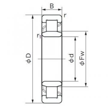 100 mm x 180 mm x 34 mm  NACHI NU 220 cylindrical roller bearings