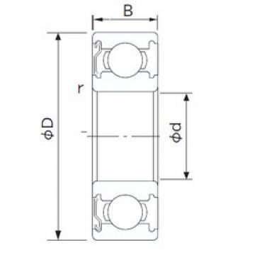 55 mm x 72 mm x 9 mm  NACHI 6811Z deep groove ball bearings