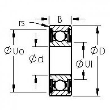 AST 695HZZ deep groove ball bearings