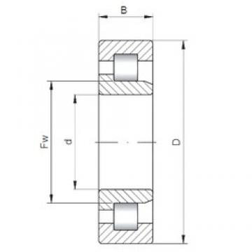 340 mm x 580 mm x 190 mm  Loyal NJ3168 cylindrical roller bearings