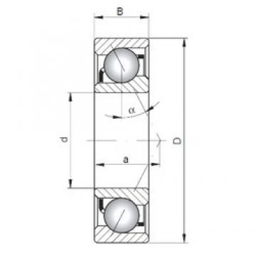 100 mm x 180 mm x 34 mm  ISO 7220 B angular contact ball bearings