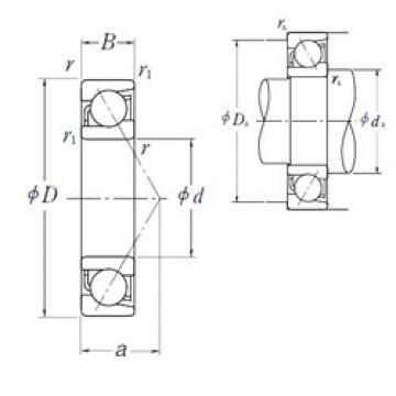 80 mm x 170 mm x 39 mm  NSK 7316 B angular contact ball bearings