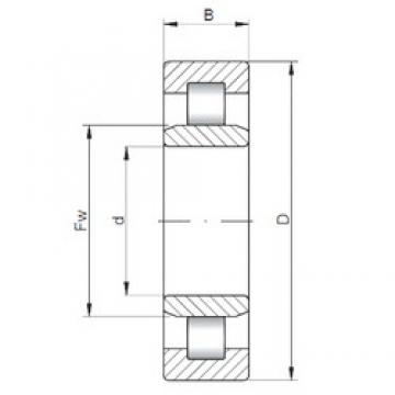 190 mm x 340 mm x 120 mm  ISO NU3238 cylindrical roller bearings