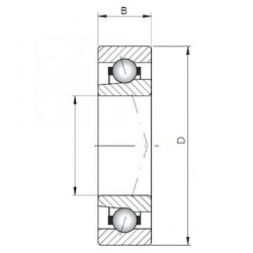 ISO 71922 A angular contact ball bearings