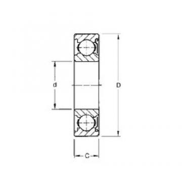 75 mm x 160 mm x 37 mm  Timken 315KD deep groove ball bearings