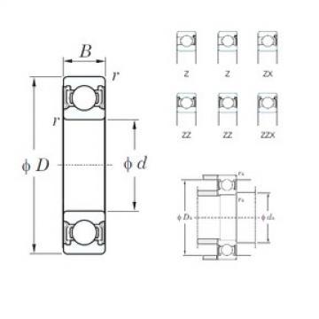 80 mm x 170 mm x 39 mm  KOYO 6316ZZ deep groove ball bearings