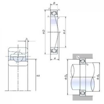 110 mm x 150 mm x 20 mm  NSK 110BNR19H angular contact ball bearings