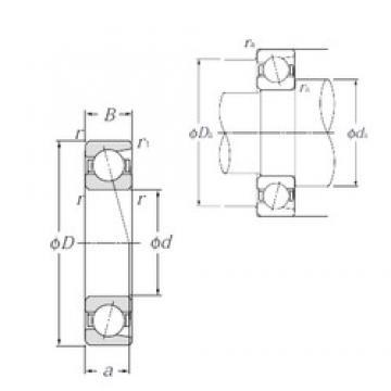 100 mm x 180 mm x 34 mm  NTN 7220C angular contact ball bearings