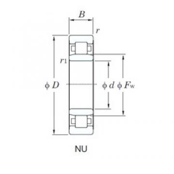 190 mm x 340 mm x 120 mm  KOYO NU3238 cylindrical roller bearings