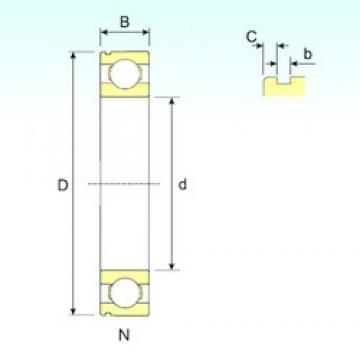 100 mm x 180 mm x 34 mm  ISB 6220 N deep groove ball bearings