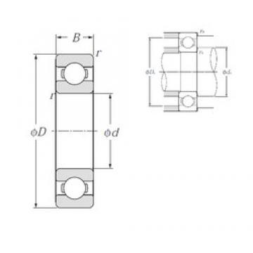100 mm x 180 mm x 34 mm  NTN 6220 deep groove ball bearings