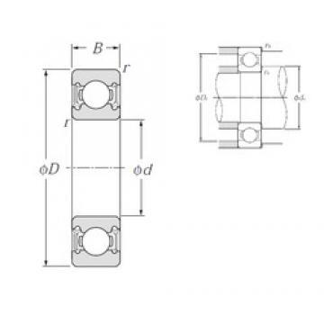 110 mm x 150 mm x 20 mm  NTN 6922LLU deep groove ball bearings