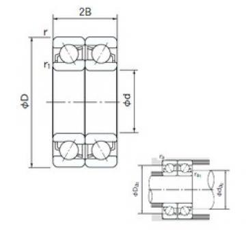 80 mm x 170 mm x 39 mm  NACHI 7316DF angular contact ball bearings