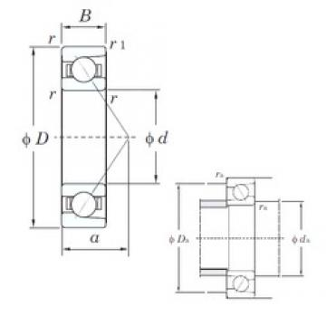 80 mm x 170 mm x 39 mm  KOYO 7316C angular contact ball bearings