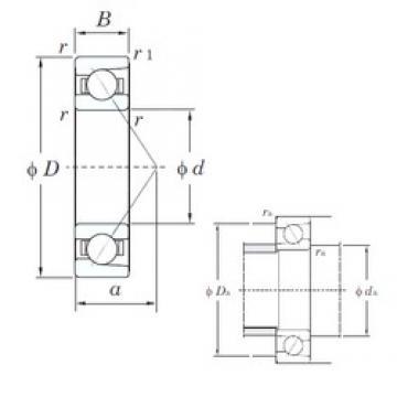 90 mm x 225 mm x 54 mm  KOYO 7418B angular contact ball bearings
