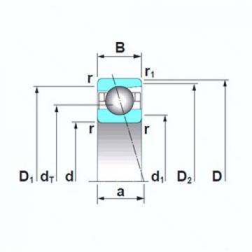 100 mm x 180 mm x 34 mm  NSK 7220A5TRSU angular contact ball bearings
