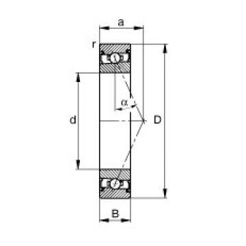 110 mm x 150 mm x 20 mm  FAG HSS71922-E-T-P4S angular contact ball bearings