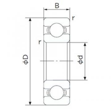 100 mm x 180 mm x 34 mm  NACHI 6220 deep groove ball bearings