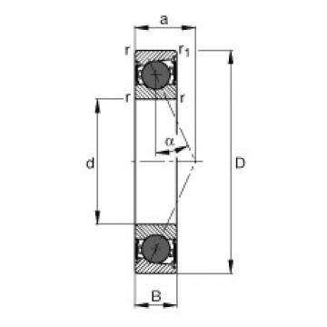 110 mm x 150 mm x 20 mm  FAG HCB71922-E-2RSD-T-P4S angular contact ball bearings