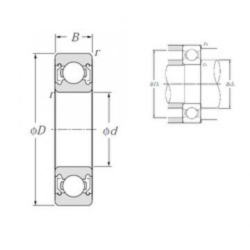 75 mm x 160 mm x 37 mm  NTN 6315ZZ deep groove ball bearings