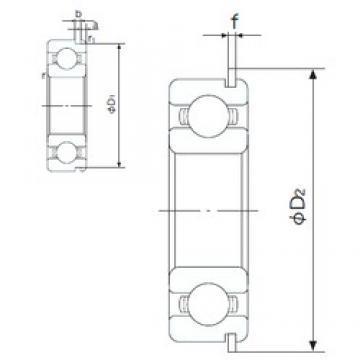 110 mm x 150 mm x 20 mm  NACHI 6922NR deep groove ball bearings