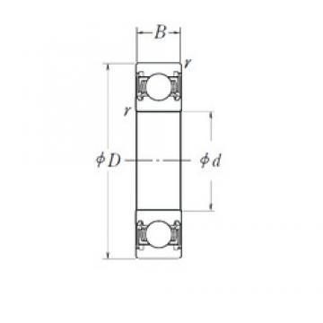 80 mm x 170 mm x 39 mm  NSK 6316DDU deep groove ball bearings
