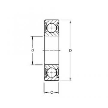 80 mm x 170 mm x 39 mm  CYSD 6316-ZZ deep groove ball bearings