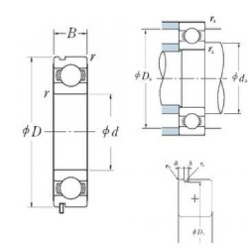 55 mm x 72 mm x 9 mm  NSK 6811N deep groove ball bearings