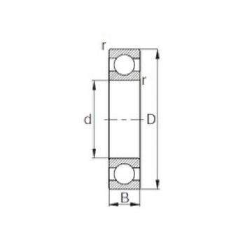 110 mm x 150 mm x 20 mm  CYSD 6922 deep groove ball bearings