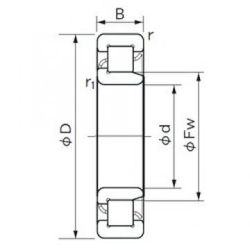 105 mm x 260 mm x 60 mm  NACHI NJ 421 cylindrical roller bearings