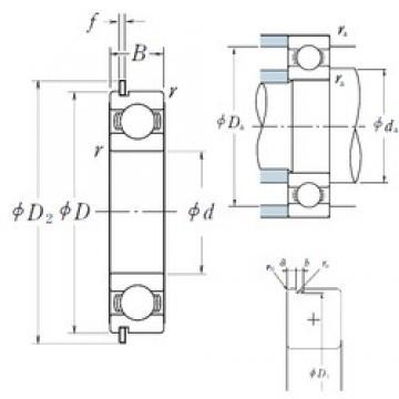 80 mm x 170 mm x 39 mm  NSK 6316NR deep groove ball bearings