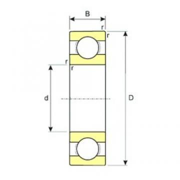 80 mm x 170 mm x 39 mm  ISB 6316 deep groove ball bearings