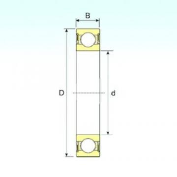 80 mm x 170 mm x 39 mm  ISB 6316-2RS deep groove ball bearings