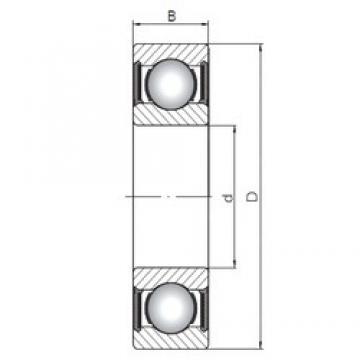 55 mm x 72 mm x 9 mm  Loyal 61811-2RS deep groove ball bearings