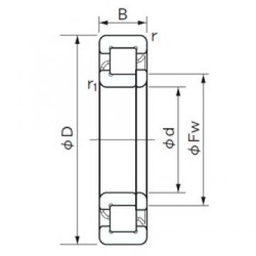 75 mm x 160 mm x 37 mm  NACHI NUP 315 cylindrical roller bearings