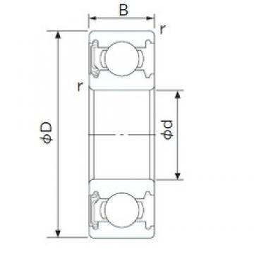 100 mm x 180 mm x 34 mm  NACHI 6220NSL deep groove ball bearings